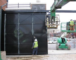 Installation of an Oversized Solid Steel Overhead Track Slide